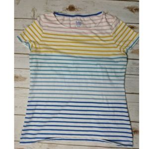 Boden Women's Pastel Striped T-Shirt